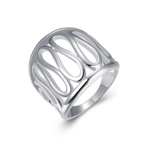 (HOT Fashion Women 925 sterling silver jewelry thumb hollow ring (Size #8))