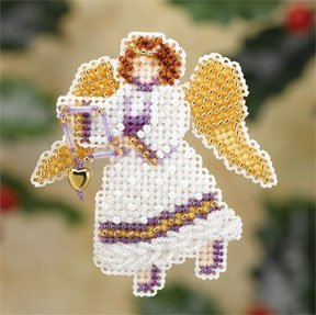 Snow Angel Beaded Counted Cross Stitch Christmas Ornament Kit Mill Hill 2007 Winter Holiday MH18-7306