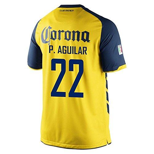 不十分グループエイズNike P. Aguilar #22 Club America Home Men Jersey/サッカーユニフォーム クラブ?アメリカ ホーム用 P. アギラール 背番号22