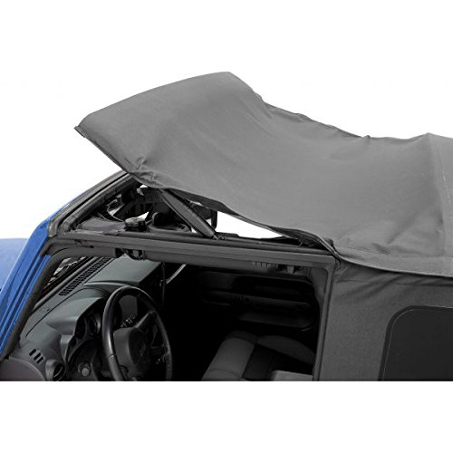 Pavement Ends by Bestop 51197-15 Black Denim Replay Replacement Soft Top Tinted Back Windows w/Upper Door Skins for 1997-2006 Jeep Wrangler