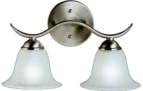 (Kichler 6322NI Dover Bath 2-Light, Brushed)