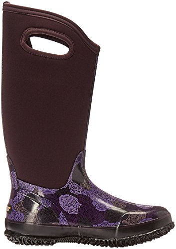 LADIES BOGS CLASSIC ROSEY TALL PLUM MULTI INSULATED WARM WELLINGTON BOOT 72032