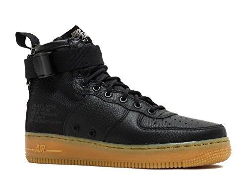 Nike Hommes Sf Af1 Mi, Noir / Noir-gomme Marron Clair, 7 M Us