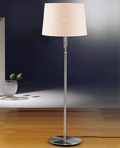 Holtkoetter 6354 SN KPN Incandescent Shaded Floor Lamp, Satin Nickel with Kupfer Narrow Shade
