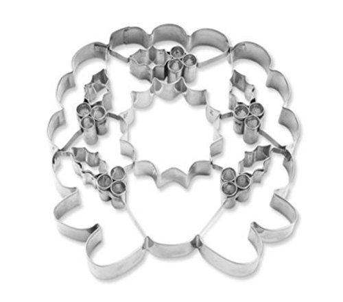 JUMBO Wreath Cookie Cutter (Out Cut Christmas Wreath Hand)