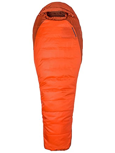 (Marmot Trestles 0 Synthetic Sleeping Bag-Regular-Right Zip/Orange Haze/Dark Rust)