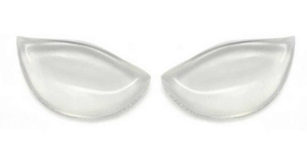 ASTRQLE 2PCS Clear Breathable Silicone Inserts Pads Breast Enhancers Push-up Bra Insert Pad Swimwear Push up Booster Pads (Clear)
