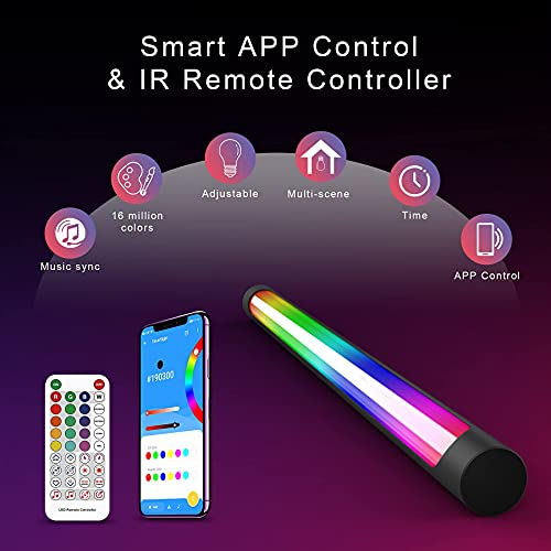sylvwin Smart LED Light Bars,RGB Color Changing Gaming Lights with Music Sync ,Ambiance Backlights with Bluetooth APP Control for TV, Gaming,PC,Party,Entertainment and Room Decoration