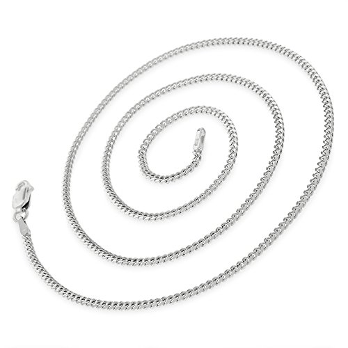 14k White Gold 1.5mm Solid Miami Cuban Curb Link Thick Necklace Chain 16'' - 30'' (20) by In Style Designz (Image #1)