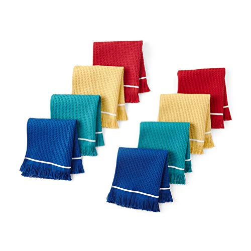 The Pioneer Woman Fringe Colored Dishcloths, Set of 8