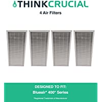 4 Replacements for Deluxe Blueair 400 Air Purifier Filter Fits ALL 400 Series Air Purifiers, by Think Crucial