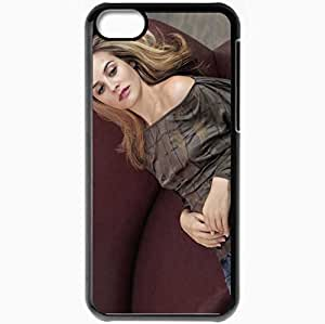 Personalized iPhone 5C Cell phone Case/Cover Skin Alicia Silverstone Black