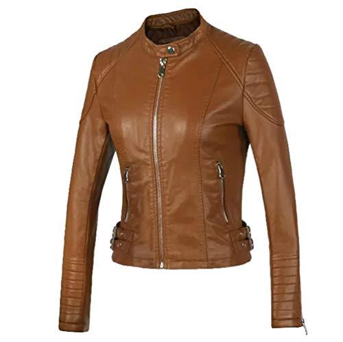 Hiver Veste Cuir Braun Betrothales Automne En Biker Vintage G Veste Femme Simili rYqr6Ux8
