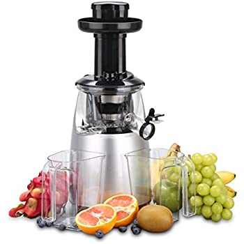 Panasonic Slow Juicer Rpm : Amazon.com: Panasonic MJ-L500 Slow Juicer with Frozen Treat Attachment, Black/Silver: Kitchen ...