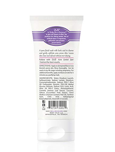 Belli Anti-Blemish Facial Wash – Cleanse Acne-Prone Skin – OB/GYN and Dermatologist Recommended – 6.5 oz. 3