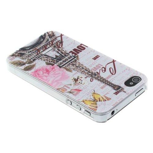 Paris Style Tour Eiffel Relief Cover Protector Case pour iPhone 4 4S