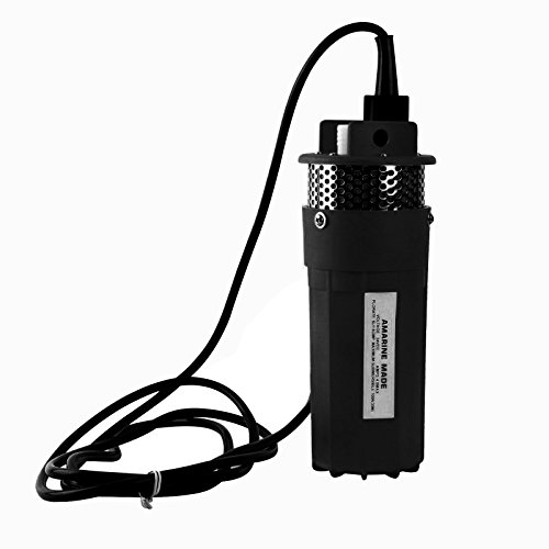 Solar Water Pump,12v Submersible Deep Well Water Dc Pump Alternative Energy Solar Battery Powered(Black) Cabin Solar Systems