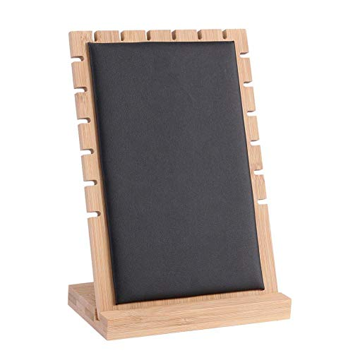 Casualcatch Solid Wood Jewelry Tabletop Display Stands Boards Necklace Showcase Holder Pendant Long Chain Handing Organizer Rack ()