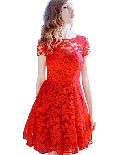 Elegante kleider knielang rot - Stylische Kleider für ...