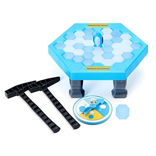 OKGOOD Puzzle Table Games Balance Ice Cubes Save Penguin Icebreaker Beating Save Penguin Knock Ice Block Wall Toys Interactive Desktop Party paternity (Interactive Training Table Connectors)