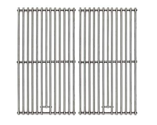 Hongso BBQ Solid SUS 304 Stainless Steel Wire Cooking Grid Grate Replacement for 2 burner Char-Broil 463645015, 466645015, 466645115, 466645115, Broil King and Others, 16 15/16 Inches, SC1702 (2-Pack) ()