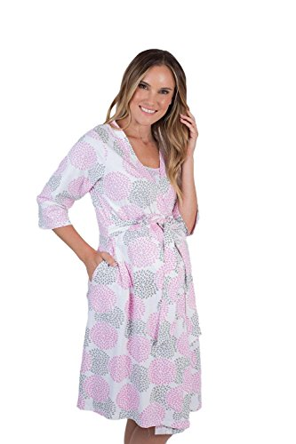 - Baby Be Mine Maternity/Nursing Robe (L/XL pre pregnancy 12-18, Lilly)