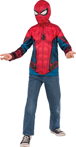 Rubie's Costume Spider-Man: Homecoming Child's Spider-Man Costume Top, Multicolor, -