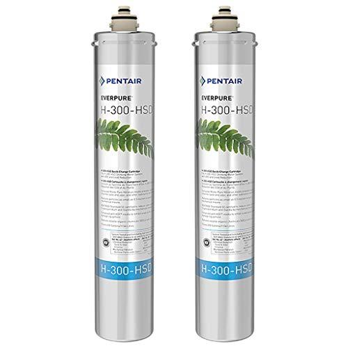 Pentair Everpure H-300-HSD Undersink Water Filter Replacement Cartridge, 2 Pack