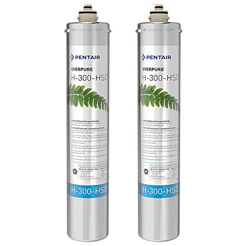 Pentair Everpure H-300-HSD Undersink Water Filter Replacement Cartridge, 2 ()