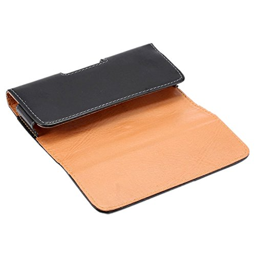 DFV mobile - Case belt clip synthetic leather horizontal smooth for =>      APPLE IPHONE 5S > Black