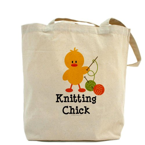 CafePress tejer–pollito Tote Bag–Natural gamuza de bolsa de lona bolsa, bolsa de la compra