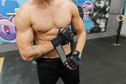 2018-Evo-2-Weightlifting-Gloves-with-Integrated-Wrist-Wrap-Support-Double-Stitching-for-Extra-Durability-Get-Ripped-with-the-Best-Body-Building-Fitness-Crossfit-and-Exercise-Accessories