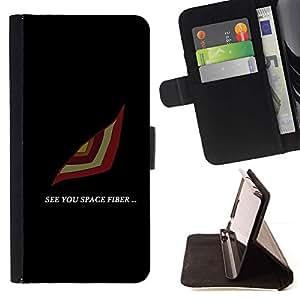 Momo Phone Case / Flip Funda de Cuero Case Cover - See You Espacio;;;;;;;; - Samsung Galaxy A5 ( A5000 ) 2014 Version