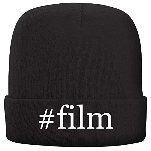 BH Cool Designs #Film - Adult Hashtag Comfortable Fleece Lined Beanie, Black (Film Gratis)