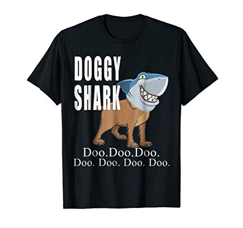Funny Doggy Shark T-Shirt Daddy Mommy Christmas Birthday