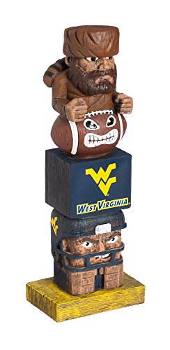 Evergreen NCAA West Virginia Mountaineers Tiki Totem ()