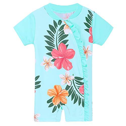 691c06396 HUANQIUE Baby Girls Swimsuit Rashguard Swimwear One Piece