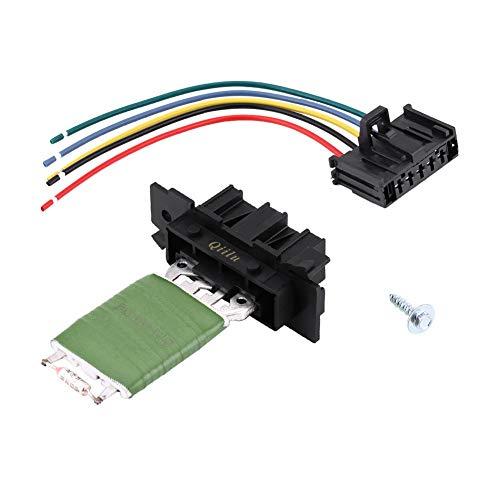 Qiilu Heater Motor Blower Fan Resistor with Wiring Repair Plug Harness: