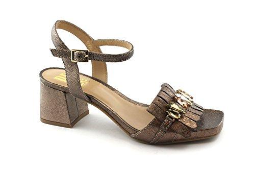 Rame scarpe tacco oro donna in pelle sandalo Bp R1801x cinturino dorato Zone con wfxXIE