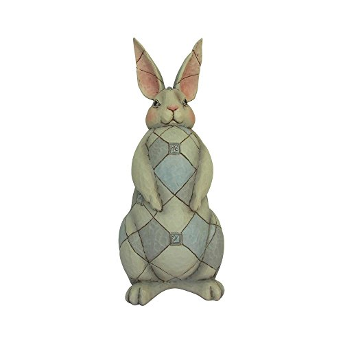 Enesco Grey Rabbit 15.75 Inches Height x 6.25 Inches Width x 6.5 Inches Length Garden Statue Collectible Figurines