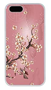 The beautiful flower wallpaper for iPhone 6 4.7 Case, The classic ink painting for iphone 6 4.7 case DIY Hard Shell Skin Cover of customer case