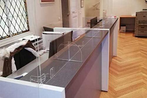 Mampara Metacrilato 130x75cm para farmacias, oficinas y Comercio ...