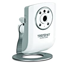 TRENDnet Megapixel Wireless N Network Surveillance Camera with 2-Way Audio and Night Vision, TV-IP572WI (White)