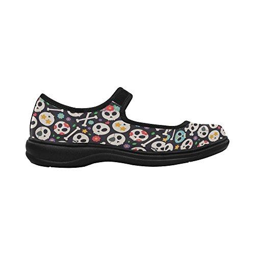 Interestprint Womens Comfort Mary Jane Flats Casual Walking Shoes Multi 5