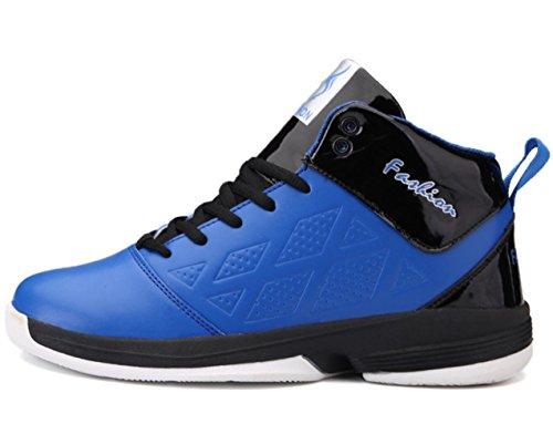 CSDM Uomo Basketball Anti-Skid Respirabile Studenti Scarpe Sportive Indossabile Boots Sneakers Scarpe da Tennis all'aperto in esecuzione , blue , 43