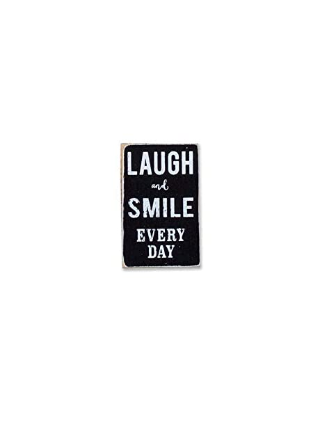 istiWood Laugh and Smile - Mini Cartel con Texto en inglés ...