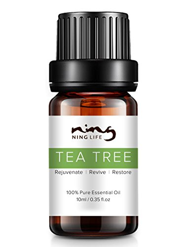 100% Pure Tea Tree Essential Oil for Acne Treatment and Remove Whelk Shrink Pore Face Care Tea Tree Oil - Help Sleep - 0.35FL.OZ