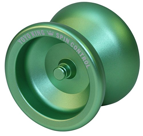 Yoyo King Spin Control Metal Yoyo with Narrow Responsive and Wide Nonresponsive C Bearing and Extra Yoyo String (Green)]()