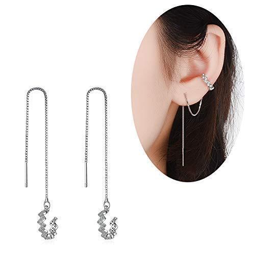 Set of 2 Brishow Bohemia Tassel Dangle Earrings Long Drop Earrings Fashion Accessories for Women and Girls