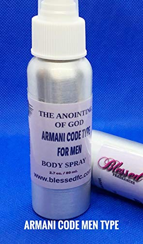 Fragrance Oil-Armani Code Men Type Body Spray by Blessed Fragrances LLC